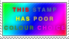 Poor Colour Choice Stamp by Spikytastic