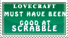 Lovecraftian Scrabble Stamp by Spikytastic