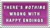 Happy Endings Stamp by Spikytastic