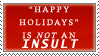 Happy Holidays Stamp by Spikytastic