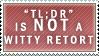 Tee-ell Dee-are Stamp by Spikytastic