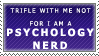 Psychology Nerd Stamp by Spikytastic