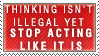 Not Illegal Yet Stamp