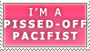 Pissed-Off Pacifist Stamp by Spikytastic