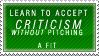 Criticism Stamp