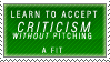 Criticism Stamp by Spikytastic