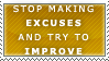 Excuses Stamp by Spikytastic