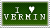 I Heart Vermin Stamp by Spikytastic