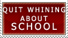 Whining about School Stamp