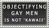 Objectifying Gay Men Stamp