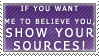 Show Your Sources Stamp