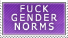 Gender Norms Stamp by Spikytastic