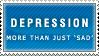 Depression Stamp by Spikytastic
