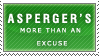Asperger's Stamp by Spikytastic