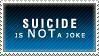 It's Not a Joke Stamp by Spikytastic