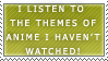 Anime Theme Music Stamp