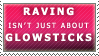 Glowsticks and Ravers Stamp by Spikytastic