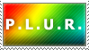 P.L.U.R. Stamp by Spikytastic
