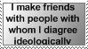 Friends AND Disagreement Stamp by Spikytastic