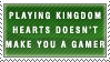 KH Doesn't Equal Gamer Stamp by Spikytastic