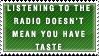 Radio-Taste Stamp by Spikytastic