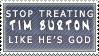 Tim Burton's Not God Stamp by Spikytastic