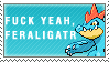 Fuck Yeah Feraligatr Stamp by Spikytastic