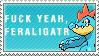 Fuck Yeah Feraligatr Stamp by Spikytastic
