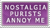 Nostalgia Purists Stamp by Spikytastic