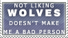 Not Liking Wolves Stamp by Spikytastic