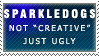 Not Creative... Stamp by Spikytastic