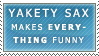 The Power of Yakety Sax Stamp by Spikytastic