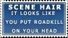 On Scene Hair Stamp by Spikytastic