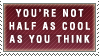 Half as Cool Stamp by Spikytastic