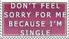 Yay For Being Single Stamp by Spikytastic