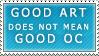 Good Art Bad OC Stamp by Spikytastic