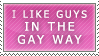 The Gay Way -Guys- Stamp by Spikytastic