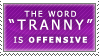 The T-Word Stamp by Spikytastic