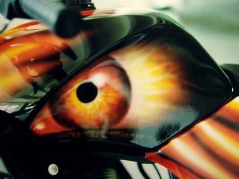 Fiery eye