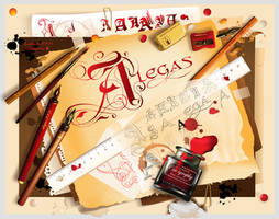 Calligraphy by alegas