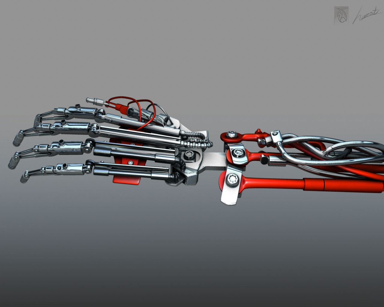 biomechanical hand by h-west