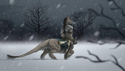 Wandering through the Snow by Celeun