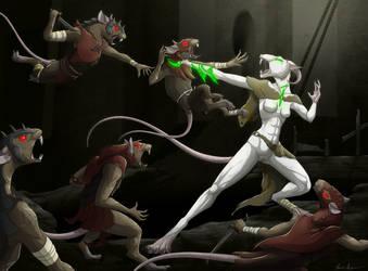 -COM- Fight of the White Rat by Celeun