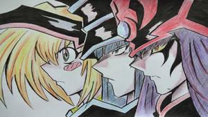 Yu-Gi-Oh! Dark Magician Girl And Tea Gardner by chrisman83 ...