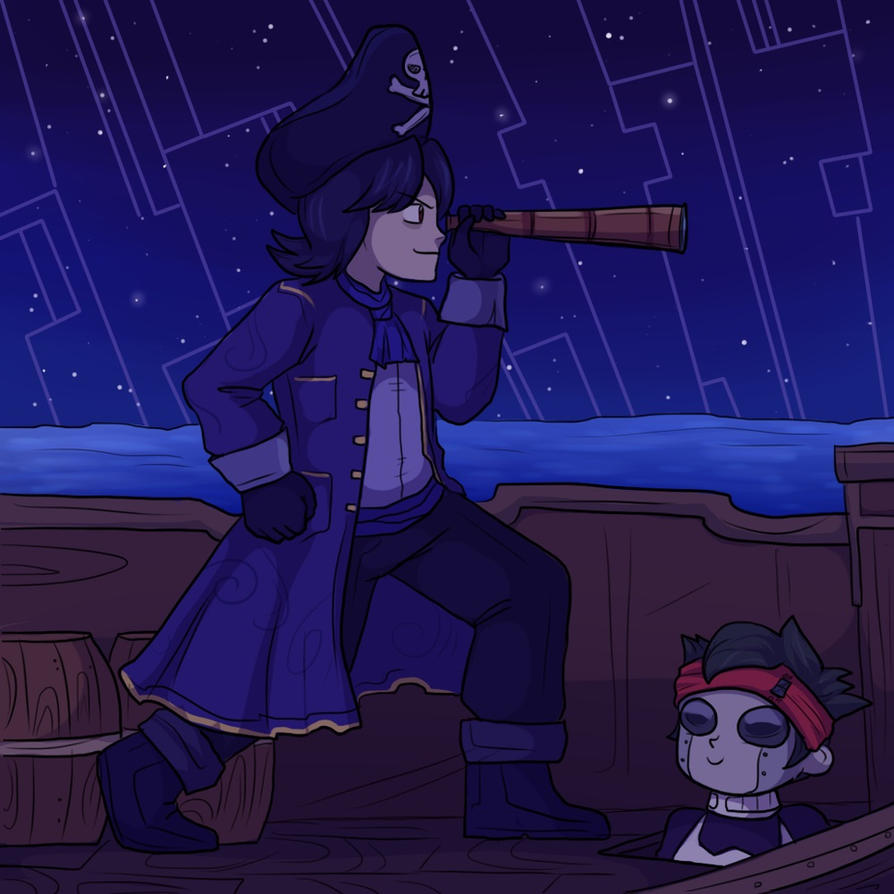 dark_rockman_as_a_pirate_captian_and_his