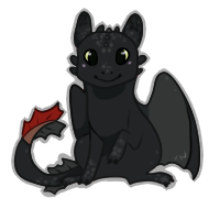 Toothless Chibi Free Use by xNighten