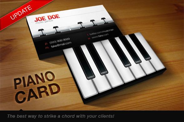 Piano Card by januz