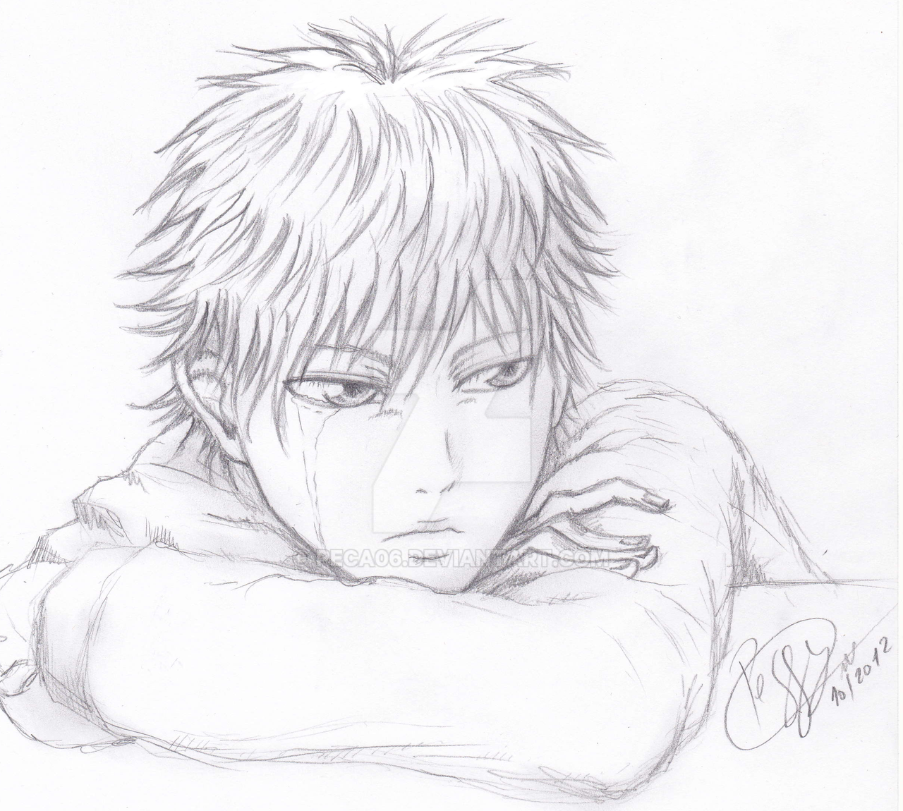 Shoujo boy crying by peca06 shoujo boy crying by peca06