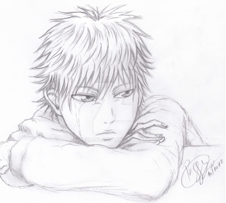Shoujo boy crying by peca06