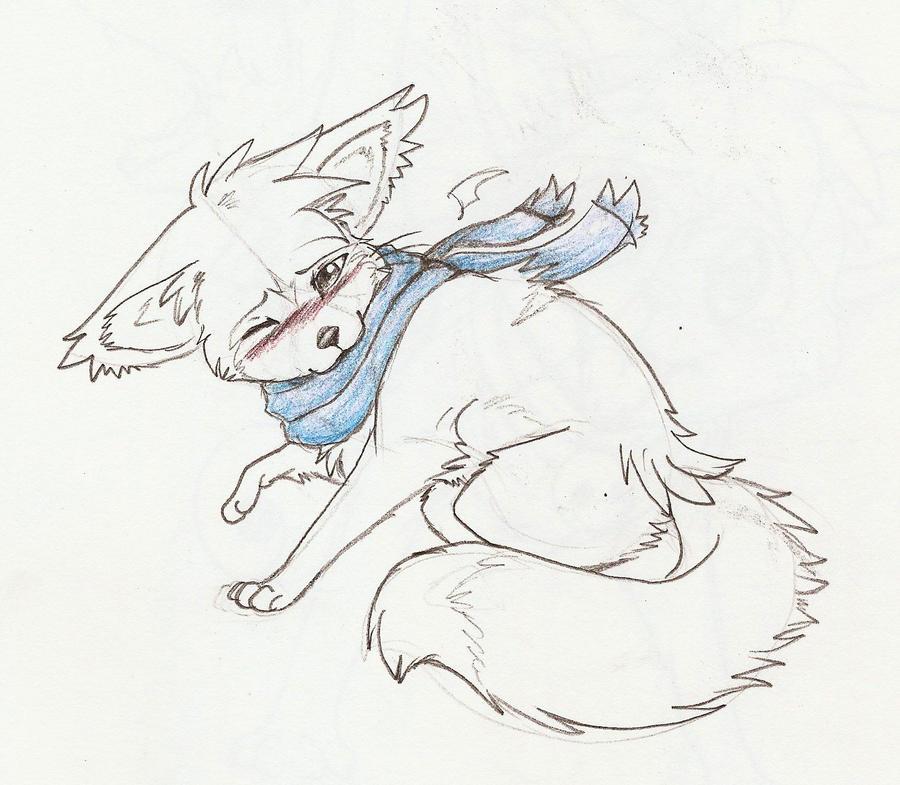 Sky blue scarf. by ThatWildMary